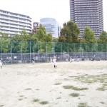 下福島運動場で練習。