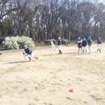 そんな大阪城公園練習。